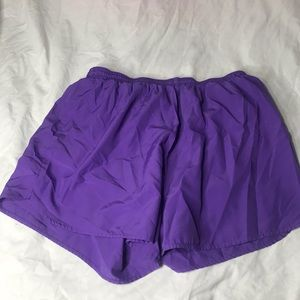 Purple performance shorts